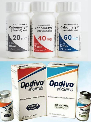 Renal cell carcinoma:  Opdivo+Cabometyx will be approved by EU soon