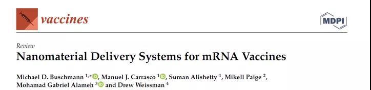 Nanomaterial delivery system for mRNA vaccine