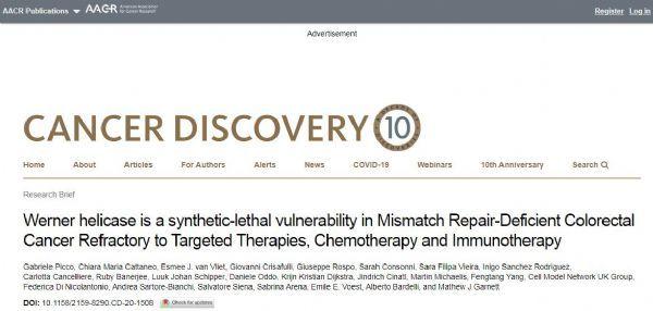 Cancer Discovery: Identify new genetic drug targets for drug-resistant colorectal cancer