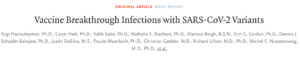 COVID-19 breakthrough infection: 5800 are still infected and 74 died