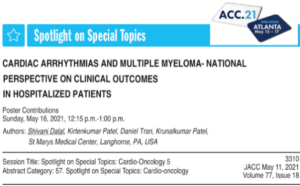 Burden of arrhythmia in patients with multiple myeloma and clinical impacts