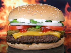 Pizza and Burgers may cause intestinal inflammation and infection?