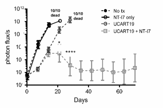 The initial clinical efficacy of IL7 fusion protein