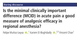 Minimal clinically important difference (MCID): Definiton and Calculation