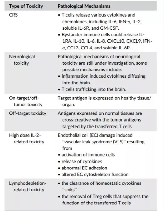 Toxicity of cell therapy: Mechanisms Manifestations and Challenges
