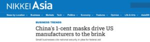 300 million masks made in USA in stock due to 10 times more expensive