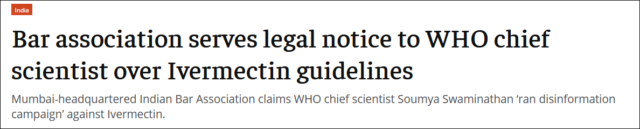 WHO chief scientist: Soumya Swaminathan may face death penalty charges?