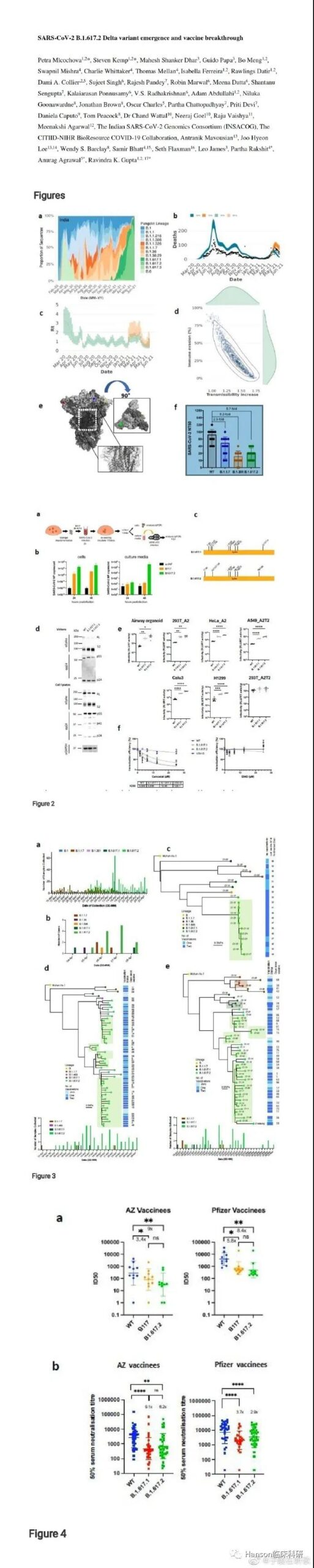 Delta variant of COVID-19 has rapid spread and vaccine resistance