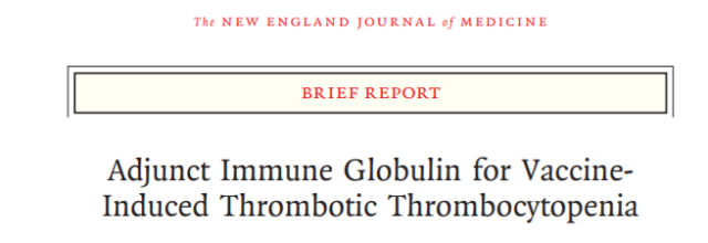 NEJM: Find a cure for fatal venous thrombosis after adenovirus vaccination