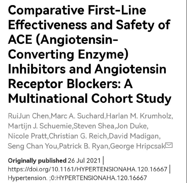 The antihypertensive effect of ARB is equivalent to that of ACEI