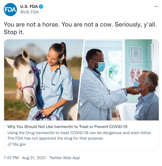 Some people used anthelmintic veterinary drugs to treat COVID-19 in U.S.