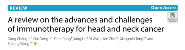 Overview of Research on Immunotherapy of Head and Neck Cancer (HNC)