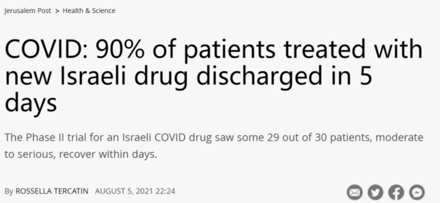 Israel new drug for COVID-19: EXO-CD24 can reduce deaths by 50%