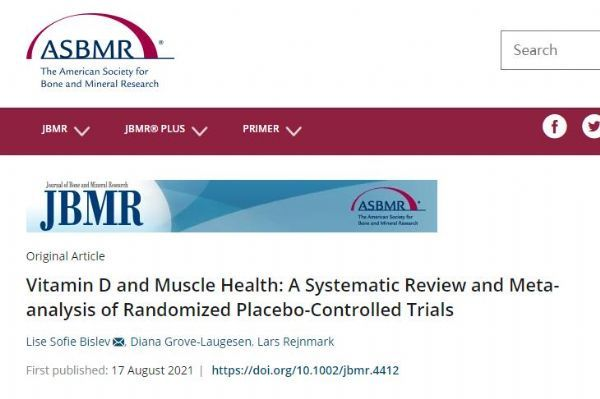 JBMR: Vitamin D does not improve the body's muscle health.