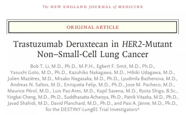 NEJM: ADC drugs significant trial results for non-small cell lung cancer