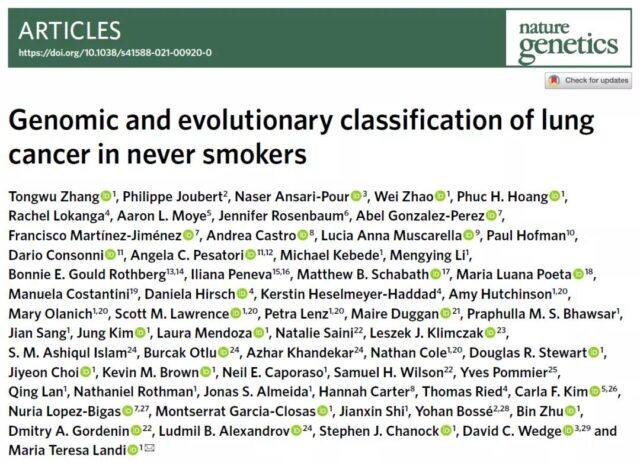 Nature: Why people who have never smoked can also get lung cancer?
