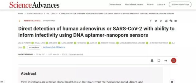 COVID-19 can't escape by the new method of virus detection: DNA sensor