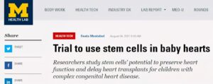 Multi-center study for treating congenital heart disease with stem cells.