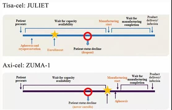 Review of two regulatory approved anti-CD19 CAR T cell therapies