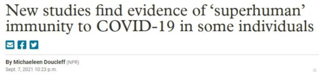 Big discovery: Infected by COVID-19 + 2 dose vaccines = Super Immunity