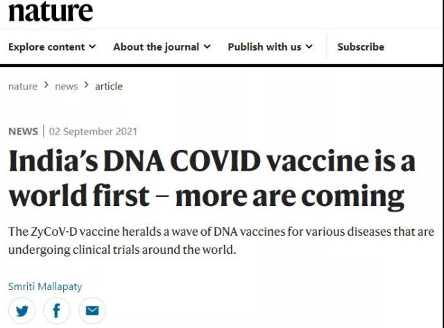 First needle-free DNA COVID-19 vaccine is about to be used first in India!