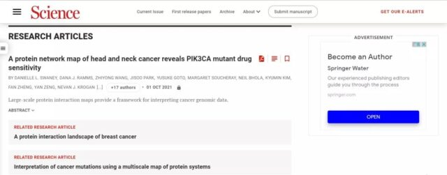 Science: Protein may become a new breakthrough in cancer treatment!