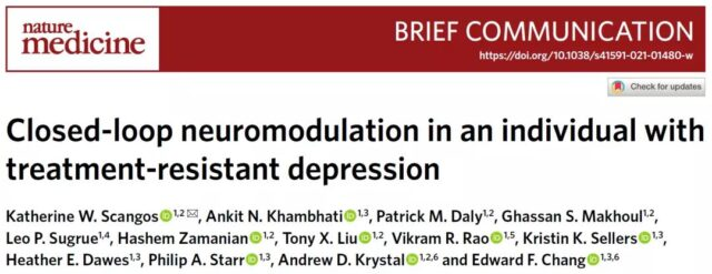 """Implanting a """"pacemaker"""" in the brain to successfully cure major depression through electrical stimulation"""