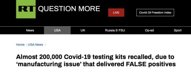 Australia Elum Company recalled 200K COVID-19 test kits it sold to U.S.