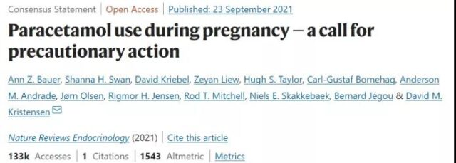 Excessive use of antipyretics during pregnancy may increase birth defects